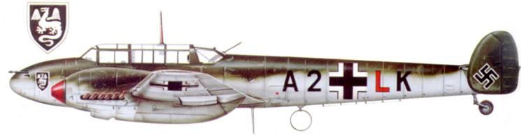 Bf. 110С-2 из I/ZG-52, кампания во Франции.