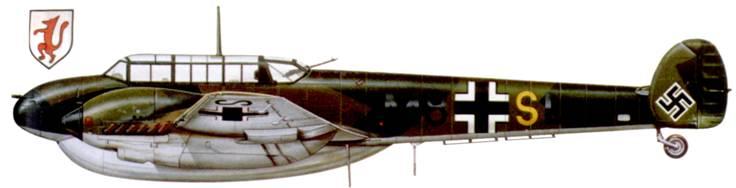 Bf. 110D-1/RI из I/ZG-76, Битва за Британию.