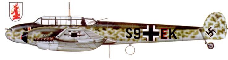 Bf. 110C-4/B из 2./EGr-210, Битва за Британию.