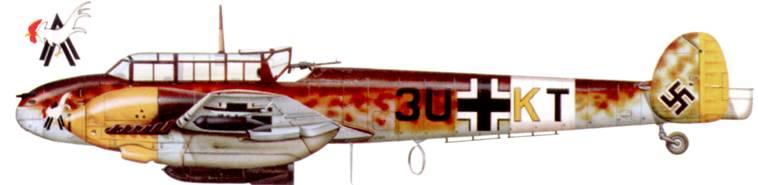Bf. 110E-2 из 9./ZG-26, Северная Африка, весна 1942 г.