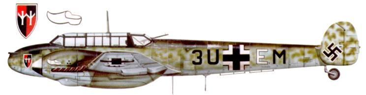 Bf. 110F-1 из II/ZG-26, <a href='https://arsenal-info.ru/b/book/187274158/1391' target='_self'>Восточный фронт</a>, 1942 г.