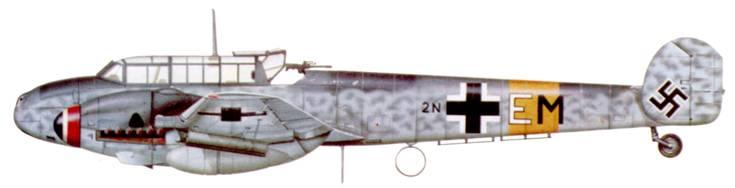 Bf. 110G-2/R3 из II/ZG-76 (второго формирования), силы обороны Рейха.