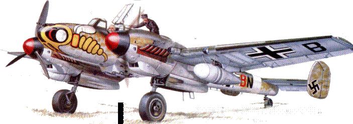 Bf 110 G-2 из II/ZG /1 Италия 1943 г.