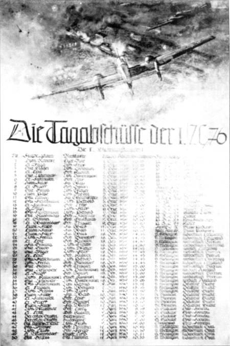 В германских истребительных частях вели счет победам своих летчиков. Этот список составлен в I/ZG-76 по состоянию на 12 апреля 1940 г.