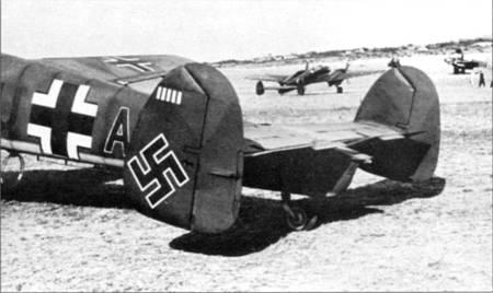 В битве за Францию народились новые герои-<a href='https://arsenal-info.ru/b/book/2221036420/3' target='_self'>асы люфтваффе</a>. На снимке – самолеты из 5./ZG-26.