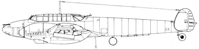 Messerschmitt Bf 110 F-2 с ракетами WGr. 42 под крыльями
