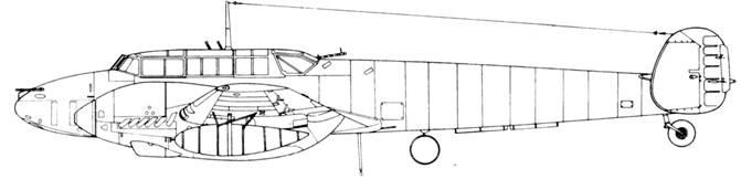 Messerschmitt Bf 110 F-4/U1 2 х Mk 108 в кабине (Schrдge Musik)