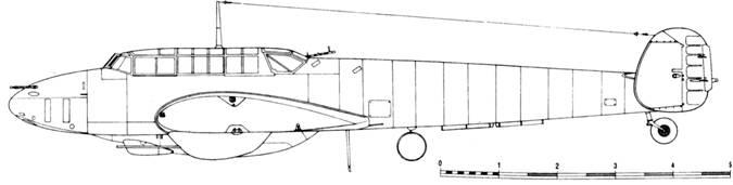 Messerschmitt Bf 110 F-4 2 x Mk 151/20 под центропланом