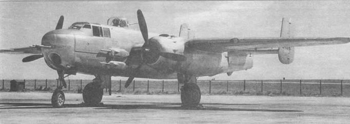 B-25H-I в Инглвуде. Самолет не окрашен.