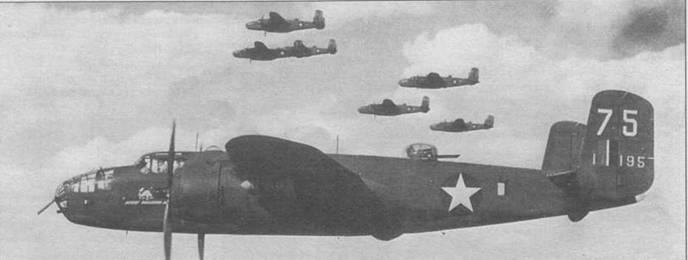 В-25С-1 «Desert Vagabond Jr» из 12th BG, 434th BS, Тунис, 1943 год. Виден «fin flash» на наружной стороне шайбы руля. При этом оказалось закрашена часть цифр радиопозывного.