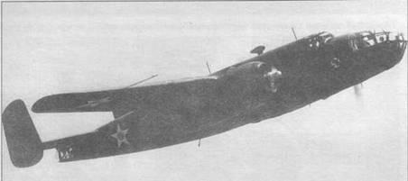 В-25 А из 17th BS в полете, 1941 год. Эскадрилья стала первой частью, полностью укомплектованной бомбардировщиками В-25 «Mitchell».