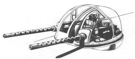 верхняя турель