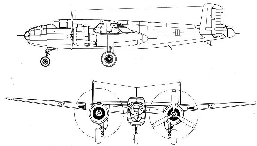 B-25A-NA один из первых девяти серийных самолетов