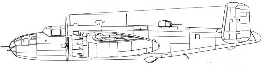 B-25D-15-NC с новыми выхлопными патрубками