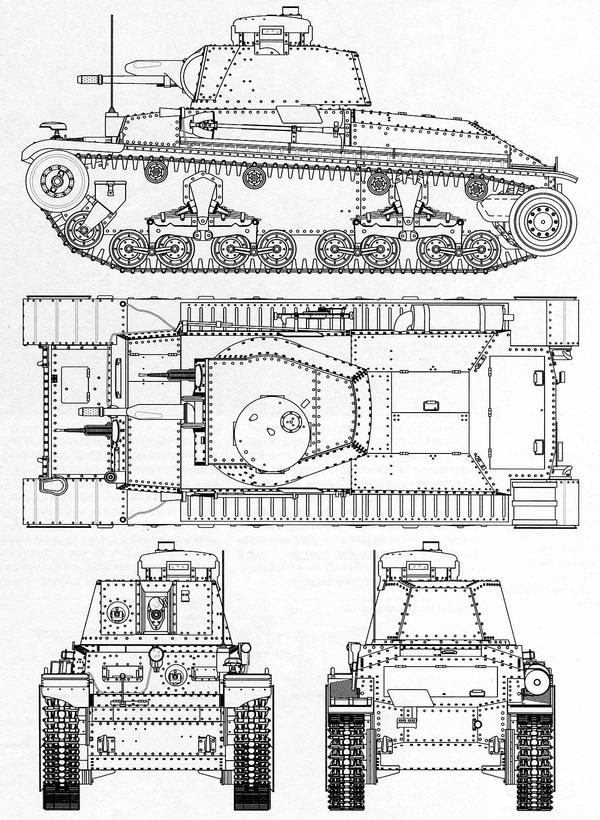 LT vz.35. Чертеж выполнил В.Мальгинов.