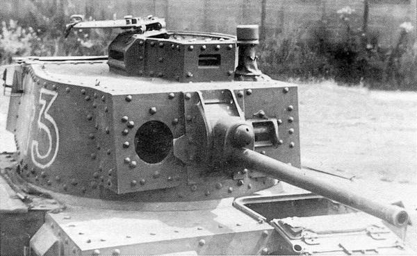 Башня танка Pz.38 (t) Ausf.E/F крупным планом.