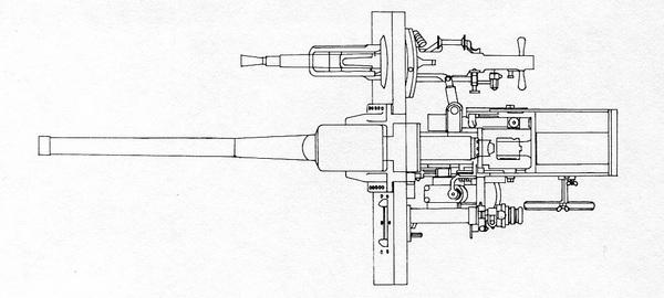 Установка вооружения в лобовом листе башни.