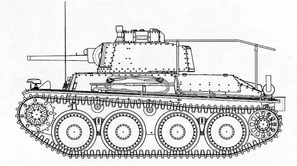 Pz.Bef.Wg.38 (t). Чертеж выполнил В.Мальгинов.