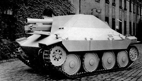 Самоходное пехотное орудие Jagdpanzer 38 (sIG 33/2) — Hetzer-Bison.