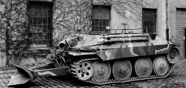 Бронированная ремонтно-эвакуационная машина Bergepanzer 38.