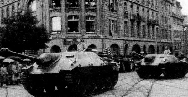 Истребитель танков G-13 на параде в Цюрихе. Швейцария, 1947 год.