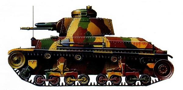 LT vz.35 в типовом камуфляже чехословацкой армии. 1937 год.