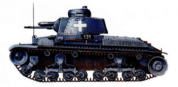 Pz.35 (t). 11-й танковый полк 1-й легкой дивизии Вермахта. Польша, сентябрь 1939 года.