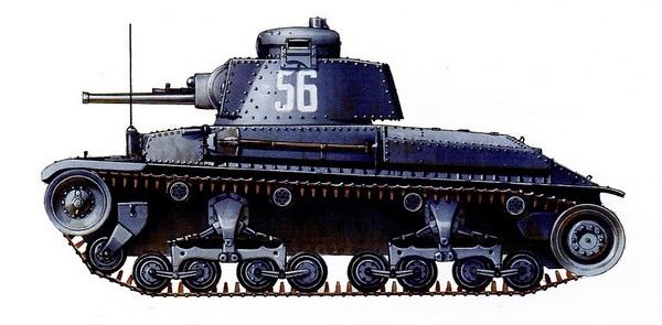 Т-11 из 1-го болгарского танкового полка. 1942 год.