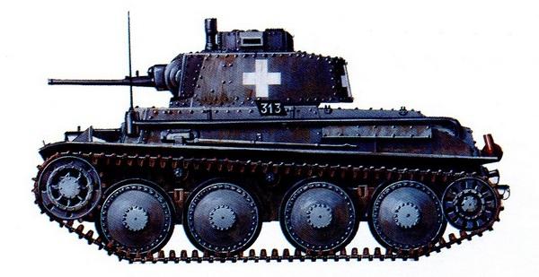 Pz.38 (t) Ausf.А. 3-я рота 67-го танкового батальона 3-й легкой дивизии. Польша, сентябрь 1939 года.