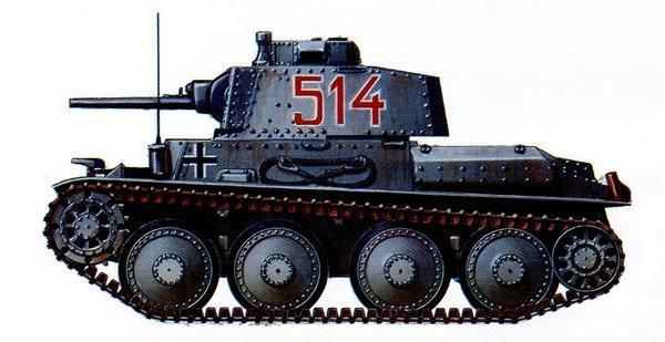 Pz.38 (t) Ausf.С. 25-й танковый полк 7-й <a href='https://arsenal-info.ru/b/book/1627328415/38' target='_self'>танковой дивизии</a>. Франция, май 1940 года.