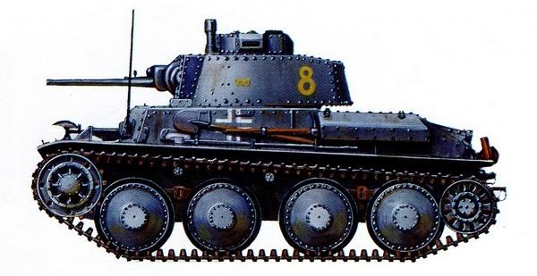 Pz.38 (t) Ausf.C. 21-й танковый полк 20-й танковой дивизии. Восточный фронт, 1941 год.