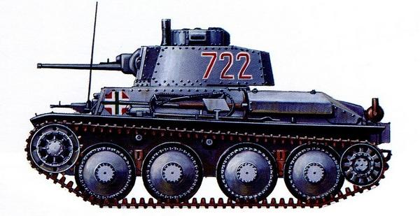 Pz.38 (t) Ausf.G. 1-я венгерская танковая дивизия, Эстергом, 1942 год.