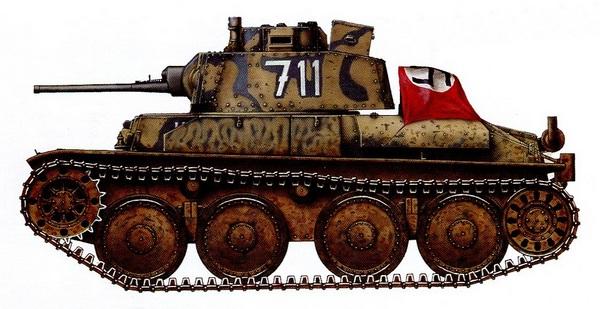 Pz.38 (t) Ausf.F. 22-я танковая дивизия, Крым, весна 1942 года.