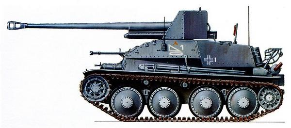 Sd.Kfz.139 MarderIII. 39-й противотанковый дивизион 1-й танковой дивизии. Восточный фронт, лето 1942 года.