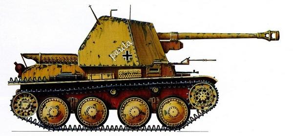 Sd.Kfz.138 Ausf.H MarderIII. 23-я танковая дивизия. Северная Африка, 1943 год.