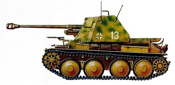 Sd.Kfz.138 Ausf.Н MarderIII. 9-я танковая дивизия. Курская дуга, июль 1943 года.