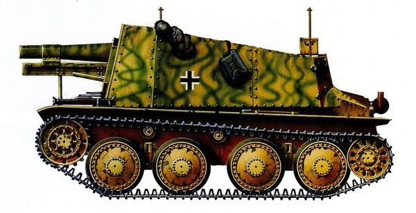 Sd.Kfz.138/1 Bison. 2-я моторизованная дивизия СС «Рейх». Курская дуга, июль 1943 года.