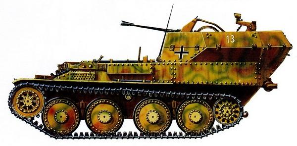 Flakpanzer 38. 12-я танковая дивизия СС «Гитлерюгенд». Франция, 1944 год.