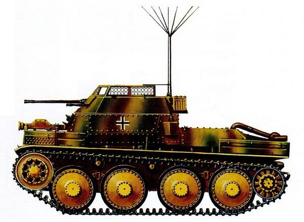 Aufkl?rungspanzer 38 (t). 2-я танковая дивизия. Западный фронт, лето 1944 года.