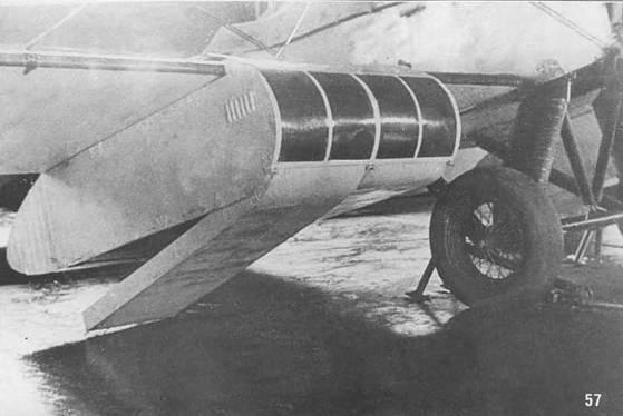 57. Кассета Г-61 под нижним крылом Р-5. Вариант 1934 г.