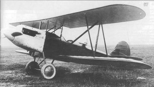 67. Переходной самолет П-2 с двигателем М-2.