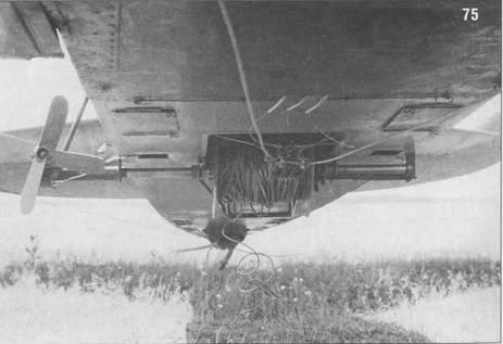 75. Специально оборудованная лебедка для буксировки планеров на Р-5. Ветрянка предназначена для сматывания буксировочного троса.