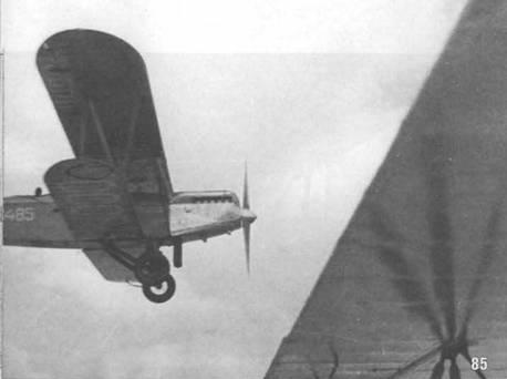85. П-5 СССР-С485 в полете. Принадлежит Осоавиахиму.
