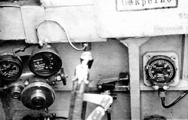 Правый борт кабины И-301.