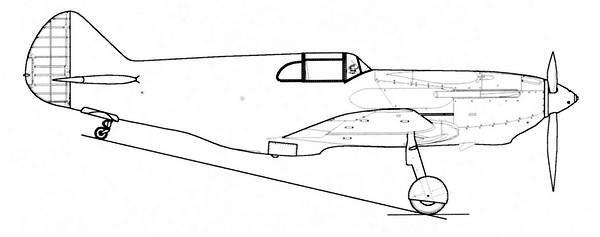 ЛаГГ-3 1-й серии завода №21.