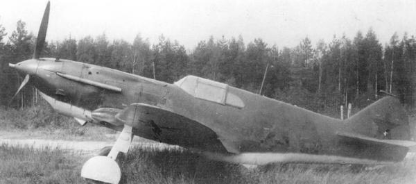 ЛаГГ-3 №3121715 (из 7-й серии завода №21) на контрольных испытаниях в НИИ ВВС, август 1941г.