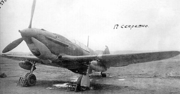 ЛаГГ-3 №213191, выпущенный заводом №31. Это один из девяти самолётов, изготовленных по заказу морской авиации с подвесными бензобаками ПСБ-100 на замках МДЗ-40, сентябрь 1941г.