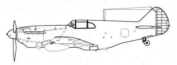 ЛаГГ-3 29-й серии завода №21 с подвесными баками.