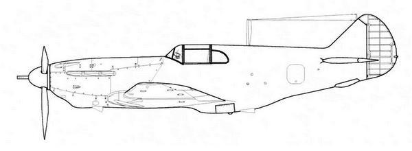 ЛаГГ-3 34-й серии завода №31 с 37-мм пушкой НС-37.