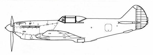 Первый экземпляр опытного истребителя «105».